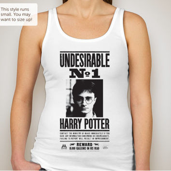 Harry Potter UNDESIRABLE - Women's Super Soft Jersey Tank - White or Grey