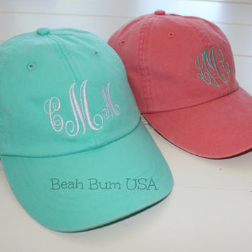 Preppy Monogram Baseball Hat Ladies Personalized Cap