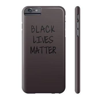 Black Lives Matter Phone Case - Fonts Black