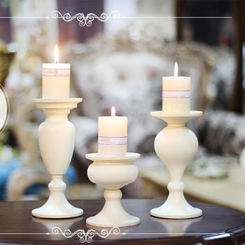 Wrought Iron Pillar Tea light Candle Holders