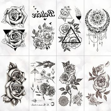 334a18d99a9ba Waterproof temporary tattoo stickers on the body art temporary m