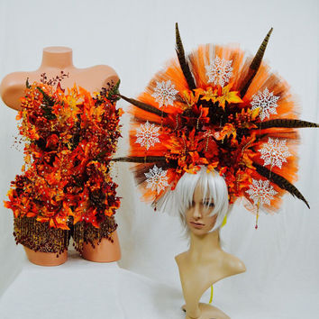 Autumn costume with headdress / fall / fairy / dance costume / halloween