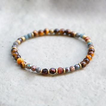 Tiger's Eye and Agate Delicate Bracelet