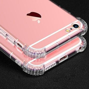 Transparent Clear Case Cover for iPhone X  5 5S 6 6s Plus 7 7 Plus 8 8 Plus