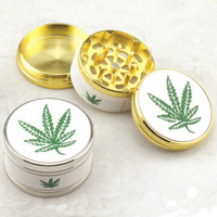 3 Layers Herb Grinder Metal Plate Magnetic Pollinator