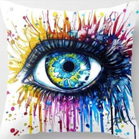 Painting Eye Throw Pillow Cushion