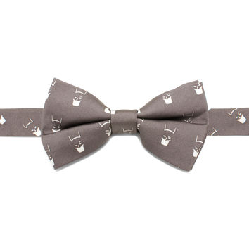Batman Cowl Gray Boys Bow Tie