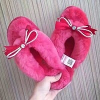 UGG Soft Nap Fur Women Slipper Shoes
