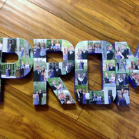 Custom photo letter Collage in COLOR 3D Personalize letters with pictures.  PROM, LOVE, Wedding Graduation bridal shower Congrats Nana Gift