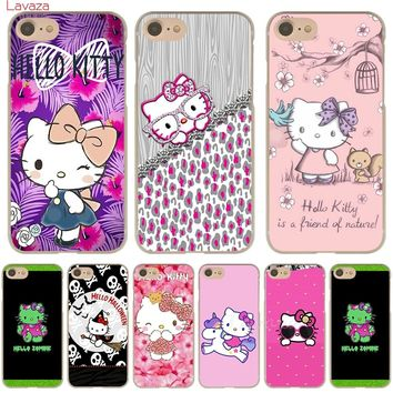 Lavaza Hello Kitty Lovely design Hard Phone Case for Apple iPhone 6 6s 7 8 Plus 4 4S 5 5S SE 5C Cover for iPhone XS Max XR Cases