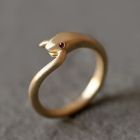 BRIKA.com | Snake Tail Ring with Gemstone Ruby  | A Well-Crafted Life
