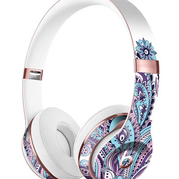 Subtle Pink and Blue Vector Sprout Full-Body Skin Kit for the Beats by Dre Solo 3 Wireless Headphones