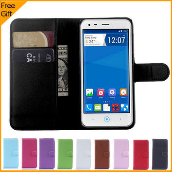 Luxury Wallet Flip PU Leather Case Cover For ZTE Blade S6 SmartPhone