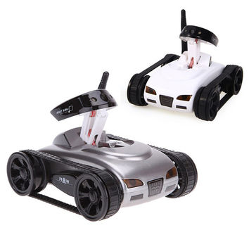 RC Tank Car 777-270 Shoot Robot With 0.3MP Camera Wifi IOS Android Phone Remote Control Mini Spy Tanks Toys For Children Adult
