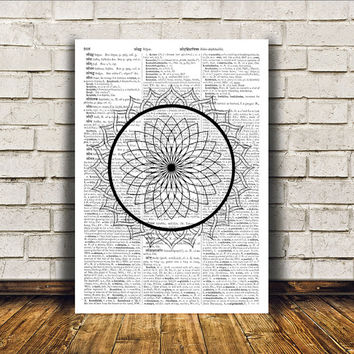 New Age print Mandala poster Sacred Geometry art Wall decor RTA181
