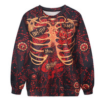 Plus Size Hot Sale Stylish Strong Character Print Hoodies [9440720644]