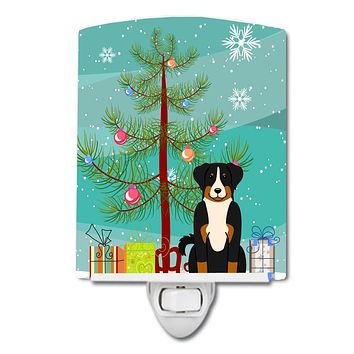 Merry Christmas Tree Appenzeller Sennenhund Ceramic Night Light BB4168CNL