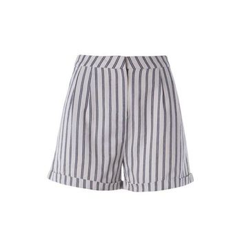 High Rised Striped Short