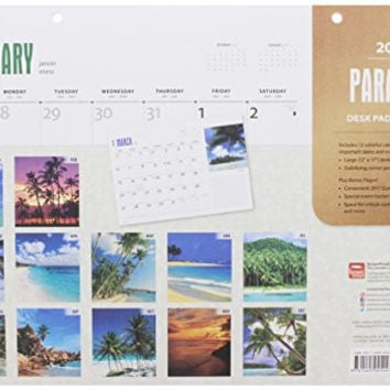 Paradise 2016 Monthly Desk Pad Calendar By BrownTrout Publishers
