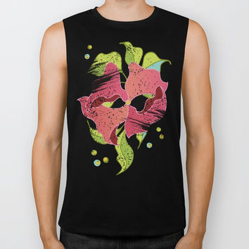 Power Flowers – Spring Biker Tank by M-ohlala