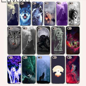 Lavaza 13O Classic Cool Wolf Hipster Print Hard Case for iPhone 4 4S 5 5S SE 5C 6 6S 7 8 Plus X XR XS Max
