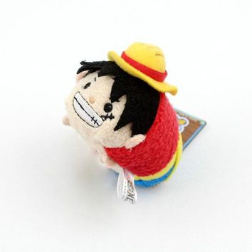 Original Japan Anime One Piece Luffy Trafalgar Law Stuff Mini Plush Toy Birthday Gift Phone Screen Cleaner