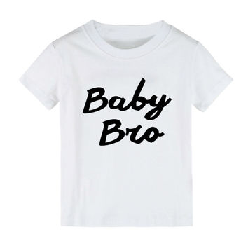 New Kids tshirt Baby Bro Letters Print Boy  t shirt Casual Children White Black Funny Hipster Top Tees Gift ZT205-23