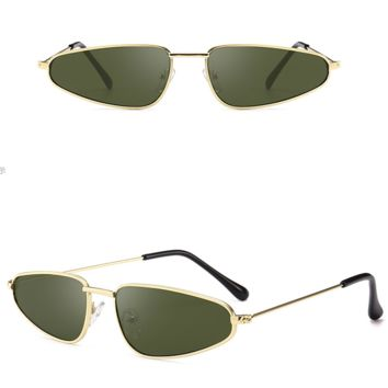 Leon Metal Vintage Sunglasses - Green