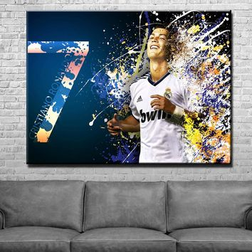 Cristiano Ronaldo Abstract Art Canvas Set