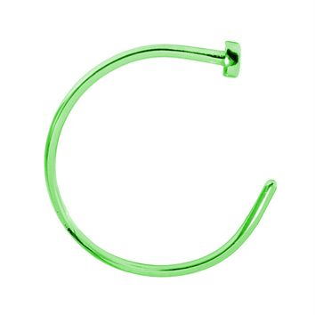 BodyJ4You Nose Rings Hoop 22 Gauge Green Stainless Steel Piercing Jewelry