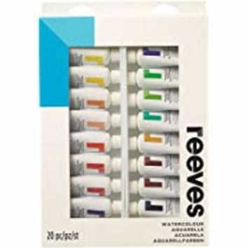 Reeves Watercolor Paint 22ml Tubes, Set of 20
