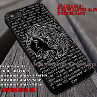 lyric quote in black symbol, Lorde, case/cover for iPhone 4/4s/5/5c/6/6+/6s/6s+ Samsung Galaxy S4/S5/S6/Edge/Edge+ NOTE 3/4/5 #music #lrd ii