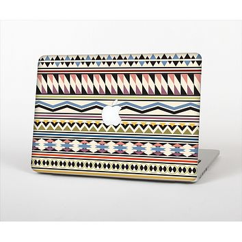 The Tan & Color Aztec Pattern V32 Skin Set for the Apple MacBook Air 11""