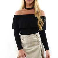 Lead The Way Stone Suede Mini Skirt