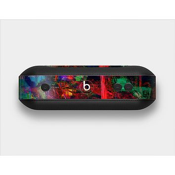 The Abstract Colorful Painted Surface Skin Set for the Beats Pill Plus