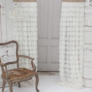 Chichi Petal with Jute Header Window Curtain - Home Decor | Couture Dreams