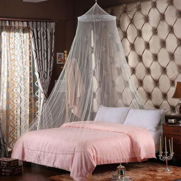 Elegant Round Lace Insect Bed Canopy Mosquito Netting. Home Decor