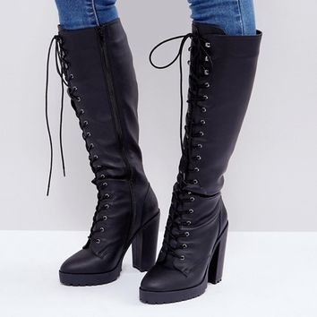 ASOS CAPRICE Heeled Lace up Boots at asos.com