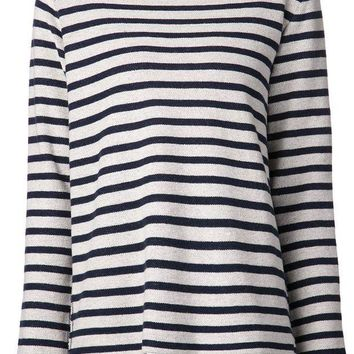ICIKIN3 T By Alexander Wang striped french terry top