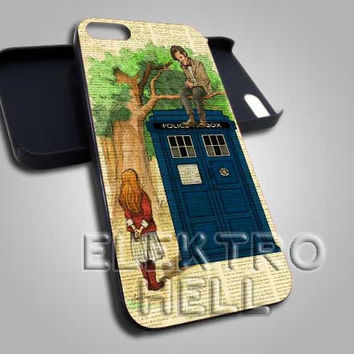 AJ 2023 Vintage Doctor Who And Alice Wonderland - iPhone 4/4s/5 Case - Samsung Galaxy S2/S3/S4 Case - Black or White