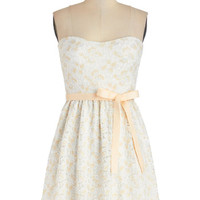 ModCloth Mid-length Strapless A-line Magnificent Moment Dress