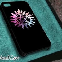 Case for iPhone 4/4s iPhone 5/5s/5c Samsung Galaxy s3/s4 Rubber case and Hard Plastic case // Supernatural Logo Inspired-K2002