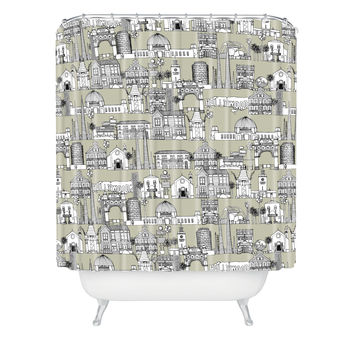 Sharon Turner Los Angeles Linen Shower Curtain