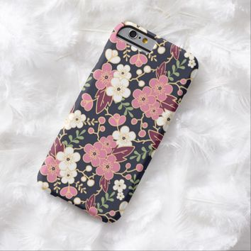 Cute Modern Spring Flower Pattern Girly Floral Barely There iPhone 6 Case