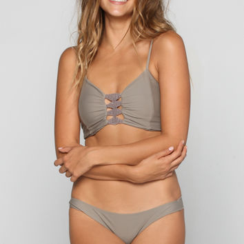 Leihiwa Bikini Top in Smoke