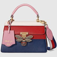 Gucci Women's Queen Margaret Series Leather Handbag  Gucci bag