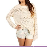 Ivory Pointelle Sweater