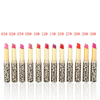 12colors Lipstick Stain Matte Balm Makeup Lot Hot Fashion Leopard Moisturizing Sweet Red Lip Stick Set to Mouth