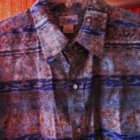 REYN SPOONER  VTG Hawaiian Shirt  REVERSE PRINT Size XL!100% COTTON! MADE IN USA