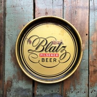 Vintage Blatz Beer Serving Tray, Blatz Pilsener Beer Collectible, Vintage Breweriana